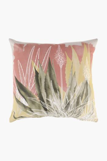 Printed Agave Scatter Cushion Cover, 50x50cm