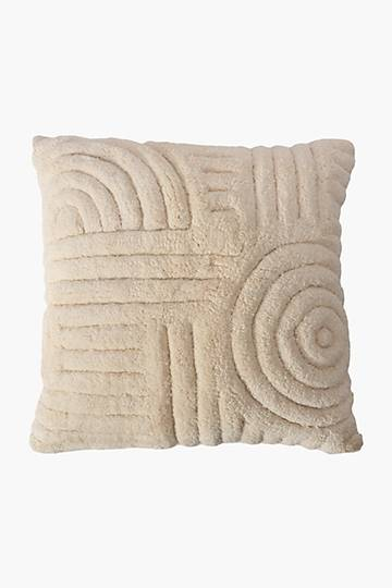 Tufted Spiral Scatter Cushion, 50x50cm