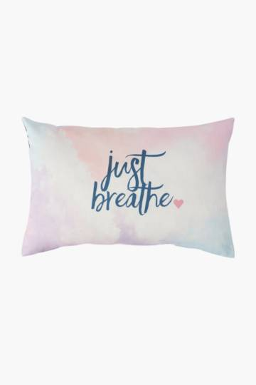 Positive Vibes Breathe Printed Scatter Cushion, 40x60cm