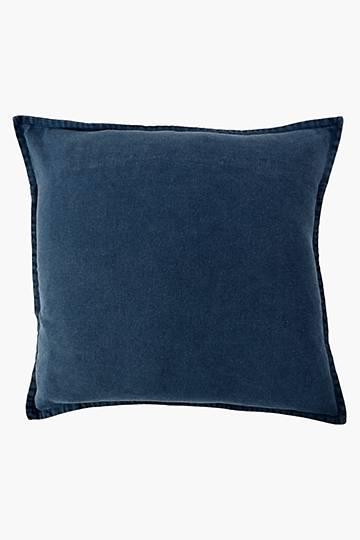 Plain Wash Feather Scatter Cushion, 55x55cm