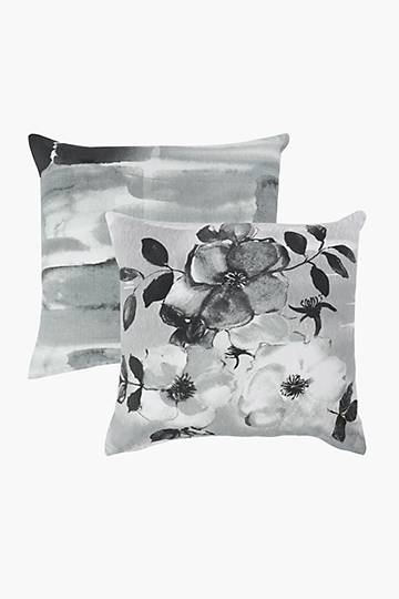 2 Pack Floral Bliss Scatter Cushion Covers, 45x45cm