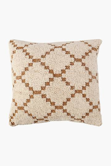 Textured Heritage Geometric Scatter Cushion, 50x50cm