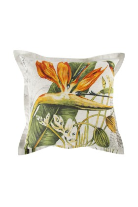 Printed Strelitzia 55x55cm Scatter Cushion