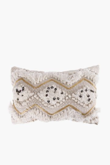 Embellished Diamond Feather 40x60cm Scatter Cushion