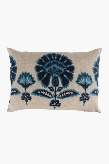Crewel Suzani Floral Scatter Cushion, 40x60cm
