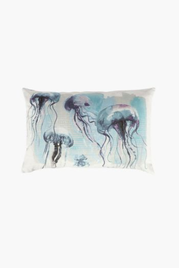 Printed Jellyfish Scatter Cushion, 40x60cm