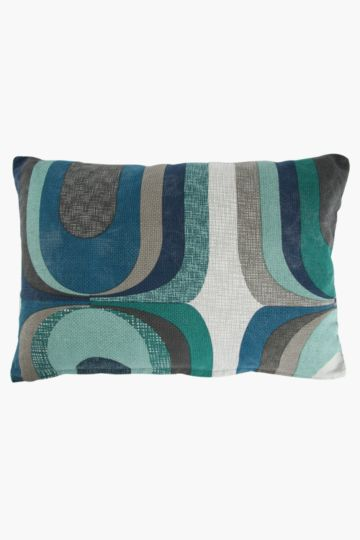 Printed Retro Swirl 40x60cm Scatter Cushion
