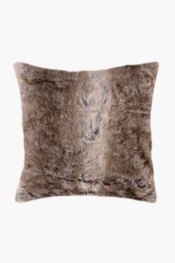 Faux Fur Animal Scatter Cushion, 50x50cm