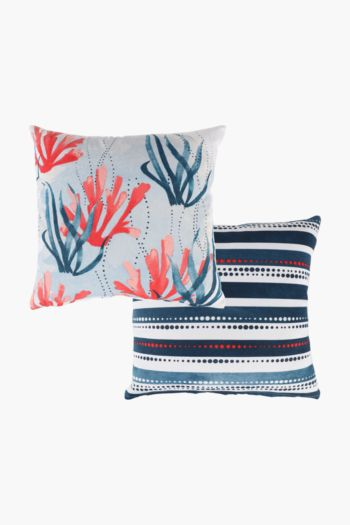 2 Pack Salt Rock Scatter Cushion Covers, 45x45cm