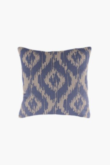 Printed Ikat Scatter Cushion, 45x45cm