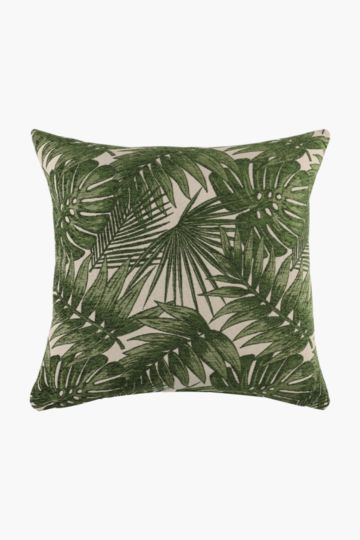 Jacquard Leaf Scatter Cushion, 60x60cm