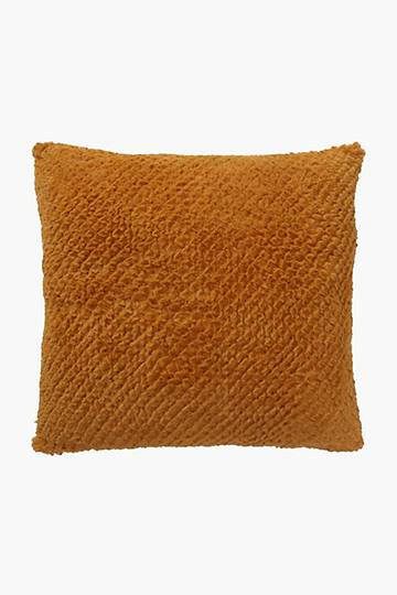 Faux Fur Geometric Scatter Cushion, 50x50cm