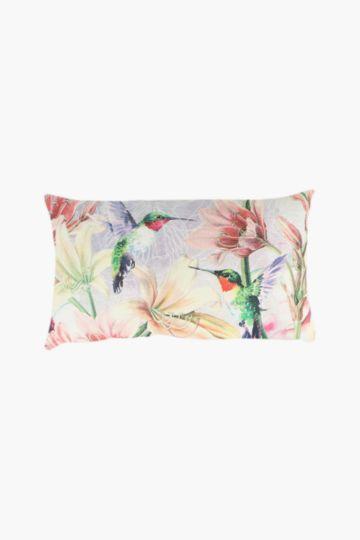 Printed Hummingbird Scatter Cushion, 40x60cm