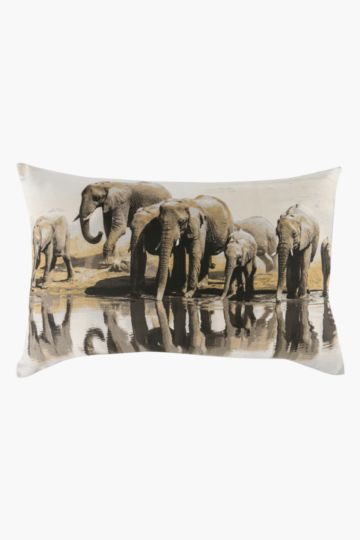 Printed Elephant Scatter Cushion, 40x60cm