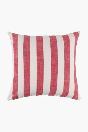 Yarn Dye Stripe Scatter Cushion, 60x60cm