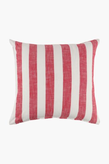 Yarn Dye Stripe Scatter Cushion, 60x60cm