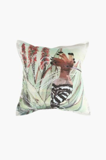 Printed Bird Scatter Cushion, 55x55cm