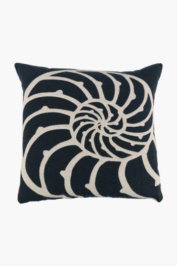 Jacquard Seashell Scatter Cushion, 60x60cm