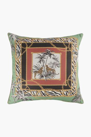 Printed Scarf Safari Scatter Cushion, 50x50cm