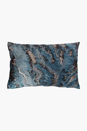 Printed Velvet Wave Scatter Cushion, 40x60cm