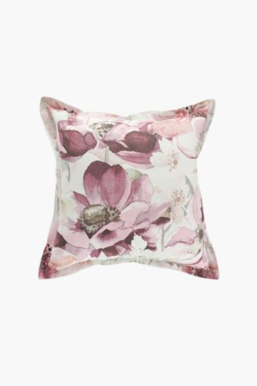 Printed Floral Scatter Cushion, 55x55cm
