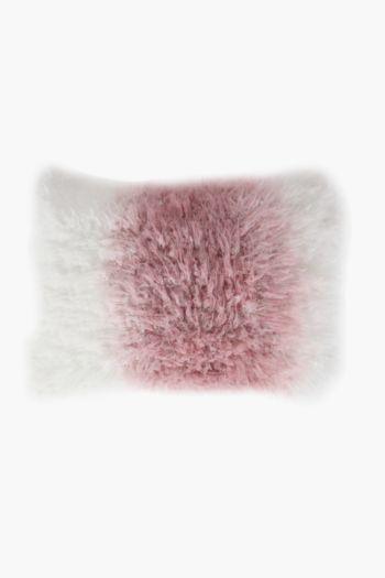 Ombre Faux Fur Scatter Cushion, 40x60cm