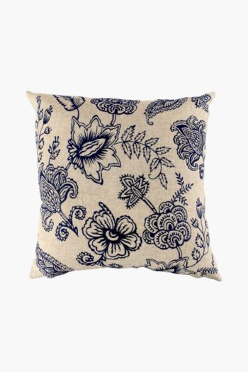 Embroidered Floral Scatter Cushion, 50x50cm