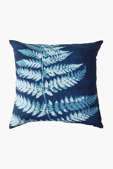 Printed Fern Scatter Cushion Cover, 60x60cm