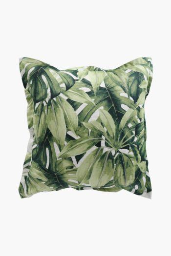 Printed Tropical Fern Scatter Cushion, 60x60cm