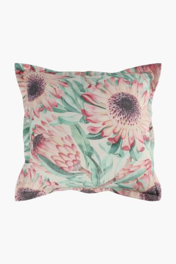 Printed Moorland Protea Scatter Cushion, 55x55cm