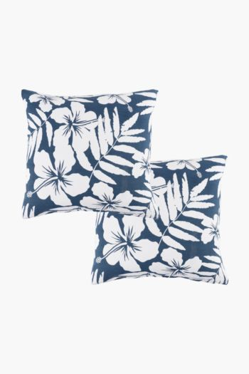 2 Pack Waikiki Floral Scatter Cushion Covers, 45x45cm