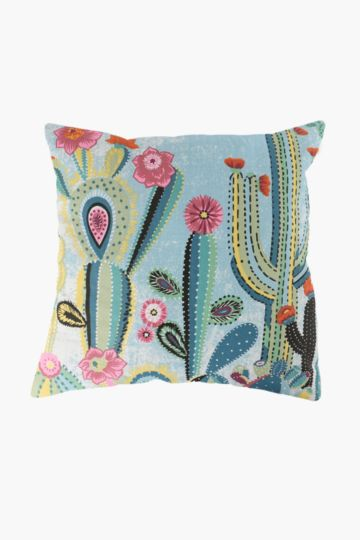 Printed Cactus Scatter Cushion, 50x50cm