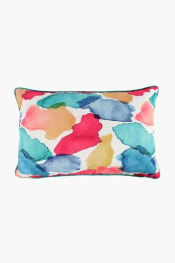 Printed Abstract Splash Scatter Cushion, 40x60cm