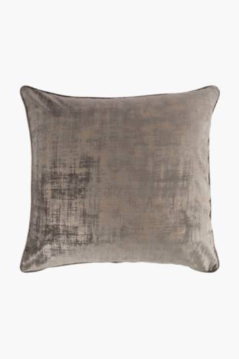 Fleck Velvet Feather Scatter Cushion, 60x60cm