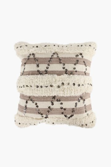Embellished Flokati 50x50cm Scatter Cushion
