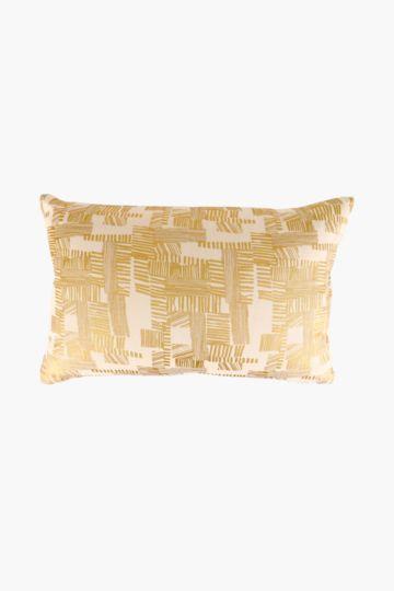 Printed Metallic Scatter Cushion, 40x60cm