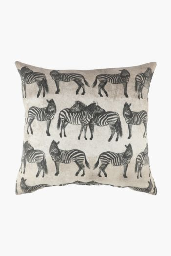 Global Zebra Scatter Cushion Cover, 50x50cm