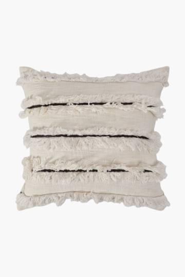 Tufted Trellis Stripe Scatter Cushion, 50x50cm
