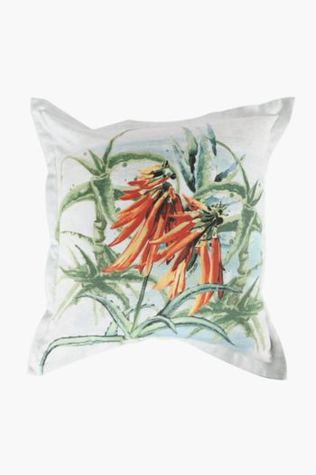 Printed Aloe Scatter Cushion, 55x55cm