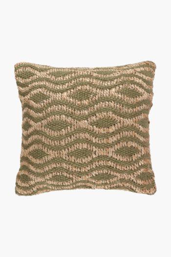 Jute Wave Scatter Cushion, 50x50cm