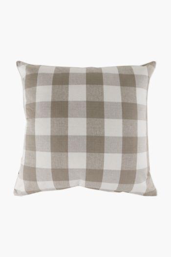 Yarn Dye Check Scatter Cushion, 60x60cm