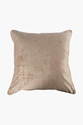 Fleck Velvet Feather Scatter Cushion, 60x60cm