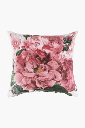 Printed Roses Floral Scatter Cushion Cover, 50x50cm