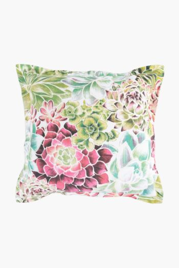 Woven Succulent Scatter Cushion Cover, 50x50cm