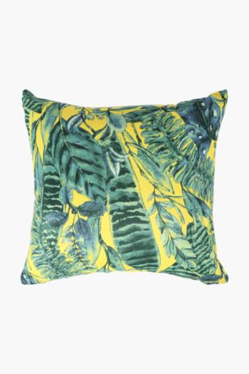 Microfibre Leaves Scatter Cushion, 45x45cm