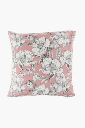 2 Pack Printed Floral Scatter Cushion Covers, 45x45cm