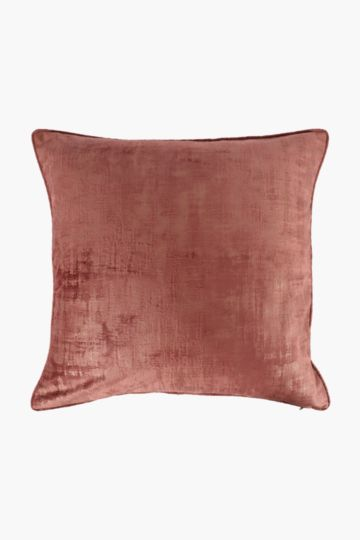 Velvet Fleck Feather Scatter Cushion, 60x60cm