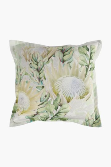 Printed King Protea Scatter Cushion, 55x55cm