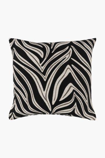 Jacquard Zebra Scatter Cushion, 60x60cm