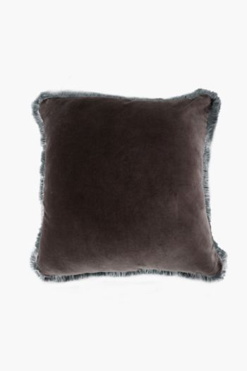 Velvet Fray Scatter Cushion, 60x60cm